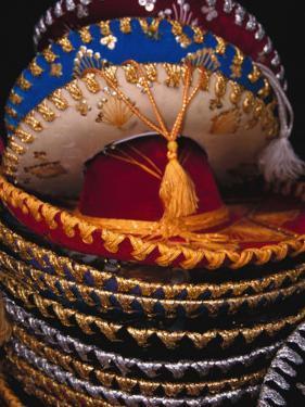Stack of Sombreros For Sale, Puerto Vallarta, Mexico by John & Lisa Merrill