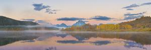 Sunrise at Oxbow Bend in fall, Grand Teton National Park, Wyoming by John & Lisa Merrill