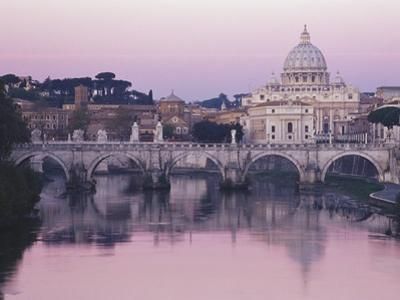 Tiber River and St. Peter's Basilica