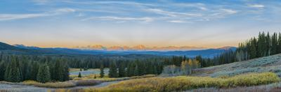 View of the Grand Teton Mountains from Togwotee Pass Overlook, Wyoming by John & Lisa Merrill