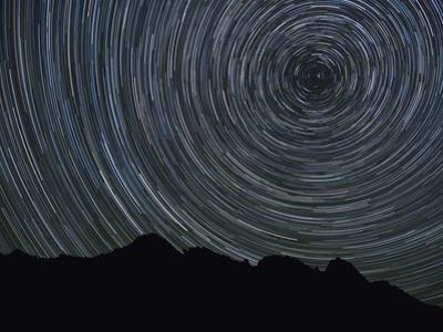 Washington State, Alpine Lakes Wilderness, Ingalls Pass, Star trails around Polaris by John & Lisa Merrill