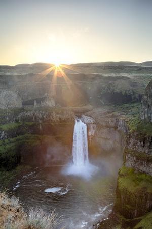 Washington State, Palouse Falls State Park, Palouse Falls, sunrise by John & Lisa Merrill