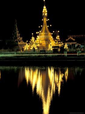 Wat Chong Klang and Reflection in Chong Kham Lake, Thailand by John & Lisa Merrill