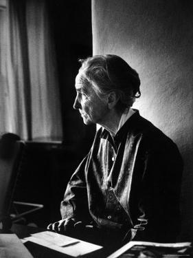 Georgia O'Keeffe Writing Letters at Ghost Ranch by John Loengard