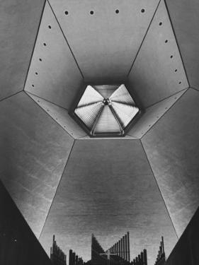 Interior of North Christian Church Designed by Eero Saarinen by John Loengard