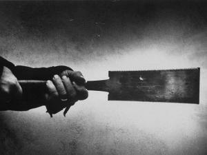 Japanese Saw Held by Furniture Maker George Nakashima by John Loengard