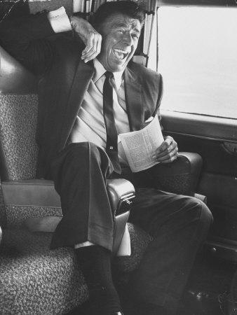Jubilant Ronald Reagan Celebrating His Victory For Governor During California Gubernatorial Primary