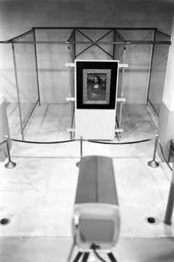 Mona Lisa on Loan to Usa Hanging in Vault at the National Gallery of Art. Washington D.C., 1962 by John Loengard