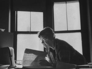 Noted Anthropologist Dr. Margaret Mead at Work at the American Museum of Natural History by John Loengard