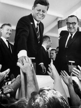 President John F. Kennedy, During His Western Trip to Inspect Dams and Power Projects by John Loengard