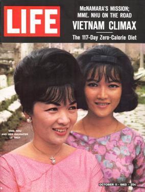 Vietnam's Madame Nhu and Daughter, October 11, 1963 by John Loengard
