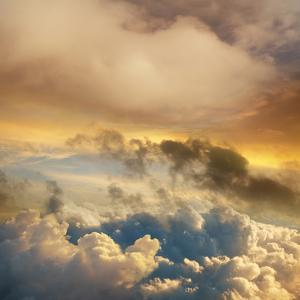 High Altitude Sunset Cloudscape by John Lund