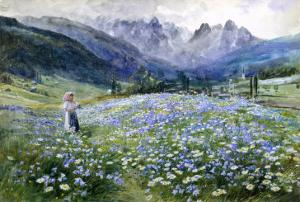 Alpin Meadow by John MacWhirter