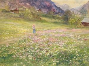 Girl in a Field of Poppies by John MacWhirter