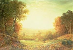 On Hampstead Heath in 1862 or When the Sun in Splendour Fades, 1862 by John MacWhirter