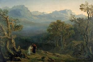 Edwin and Angelina, 1816 by John Martin