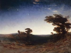 Landscape at Dusk by John Martin