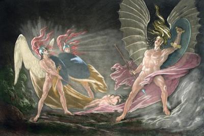Satan Tempts Eve in the Dream, Paradise Lost by John Milton by John Martin
