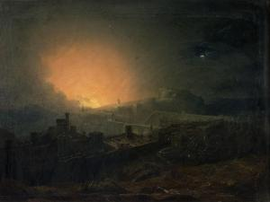The Fire, Edinburgh by John Martin