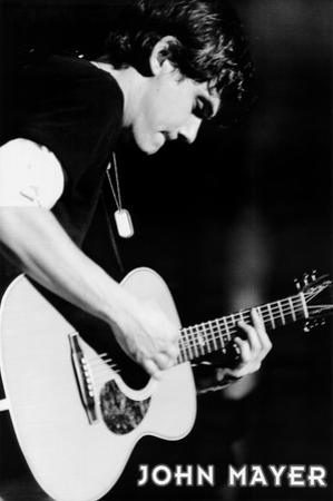 John Mayer (Playing Guitar, B&W) Music Poster Print
