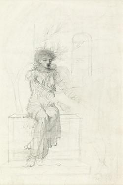 Study of a Seated Woman by John Melhuish Strudwick
