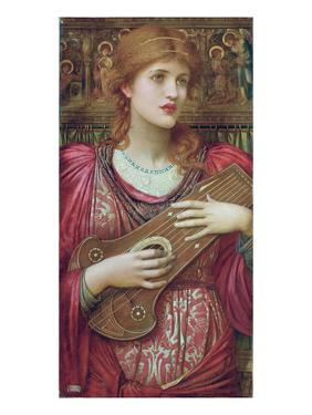 The Music Faintly Falling, Dies Away / Thy Dear Eyes Dream That Love Will Live for Aye, 1893 by John Melhuish Strudwick