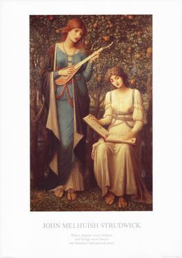 When Apples Were Golden by John Melhuish Strudwick