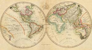 Map of the World, c.1820 by John Melish