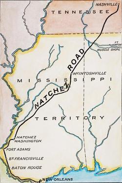 Natchez Trace, 1816 by John Melish