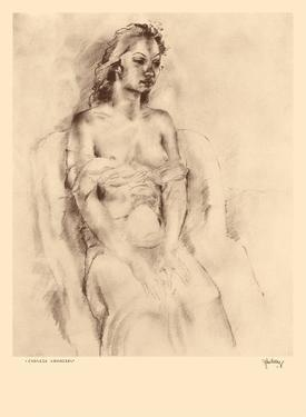 Chinese Hawaiian 1 - Nude Study - from Etchings and Drawings of Hawaiians by John Melville Kelly