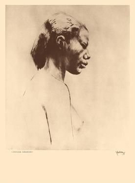 Chinese Hawaiian 2 - Nude Study - from Etchings and Drawings of Hawaiians by John Melville Kelly
