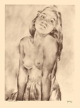 Marion, Hawaii - Topless Native Hawaiian Girl - from Etchings and Drawings of Hawaiians by John Melville Kelly