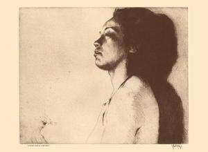 Mokihana, Hawaii - Native Hawaiian Girl - from Etchings and Drawings of Hawaiians by John Melville Kelly