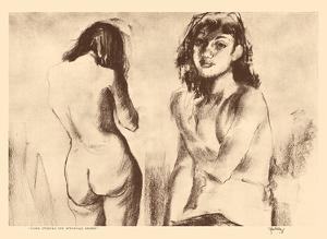 Nude Studies for Etchings - from Etchings and Drawings of Hawaiians by John Melville Kelly