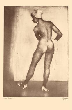 Nude Studies - Hawaiian Native Girl - from Etchings and Drawings of Hawaiians by John Melville Kelly