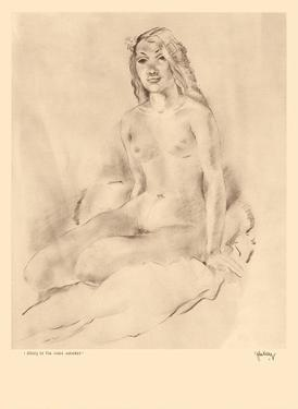 Study of Nude, Hawaii - Native Girl - from Etchings and Drawings of Hawaiians by John Melville Kelly