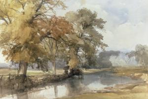 Trees on a Riverbank, Eaton, Norwich, 1847 by John Middleton