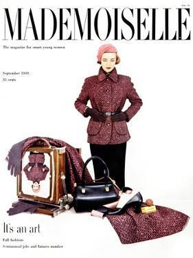 Mademoiselle Cover - September 1949 by John Midgley