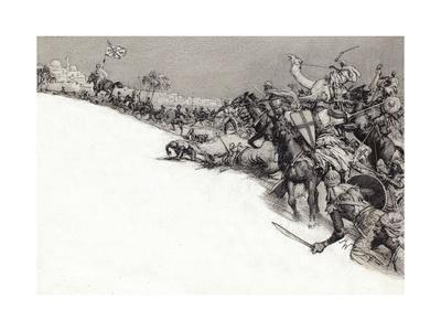 Saracens Attacking Jerusalem