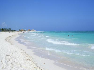 Beach, Playa Del Carmen, Yucatan, Mexico, North America by John Miller