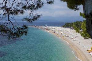 Bol, Ziatni Rat Beach, Brac Island, Dalmatian Coast, Croatia, Europe by John Miller