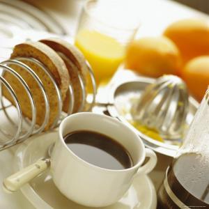Breakfast, Coffee, Toast, Fresh Orange Juice by John Miller