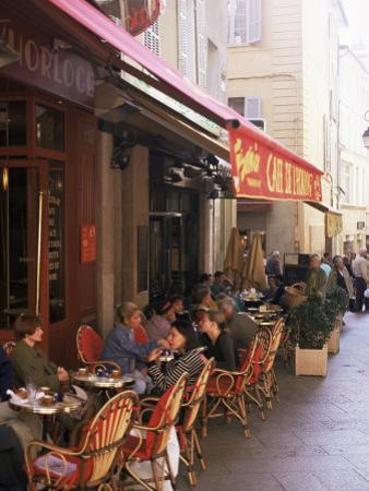 Cafe, Aix-En-Provence, Bouches-Du-Rhone, Provence, France by John Miller