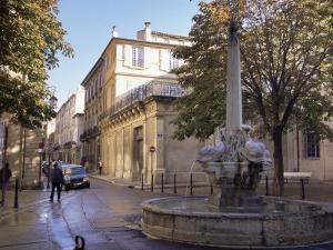 Fountain of the Four Dolphins, Aix-En-Provence, Bouches-Du-Rhone, Provence, France by John Miller