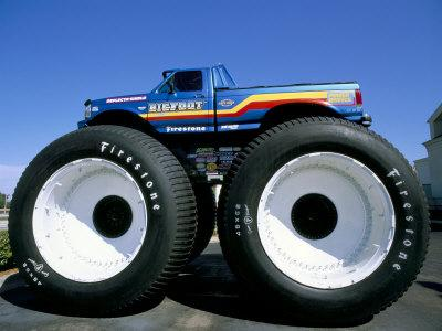 Huge Tyres, Big Foot, Customised Car, USA