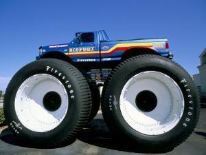 Huge Tyres, Big Foot, Customised Car, USA by John Miller