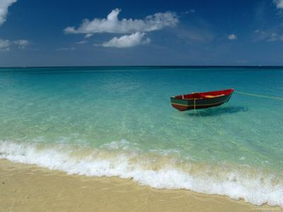 Moored Boat, Grand Anse Beach, Grenada, Caribbean by John Miller