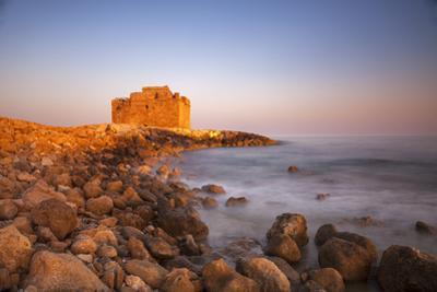 Paphos Castle with rocky shoreline, Paphos harbour, Cyprus, Mediterranean, Europe by John Miller