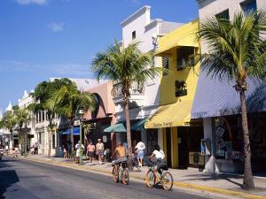 Street Scene on Duval Street, Key West, Florida, USA by John Miller