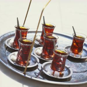Tray of Turkish Teas, Turkey, Eurasia by John Miller